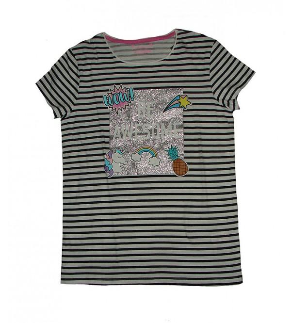 Older Girls Short Sleeve Glitter Printed T Shirt 1cc2d2422b