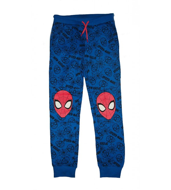 Character Printed Boys Fleece Knit Joggers