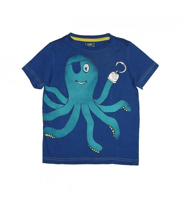 Boys Short Sleeve Printed n Applique T Shirt