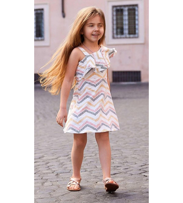 Girls Stretch Asymmetric Dress