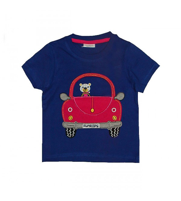 Baby Boys Short Sleeve Applique T Shirts