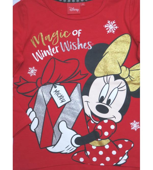 Minnie Mouse Girls Glitter Printed T Shirt