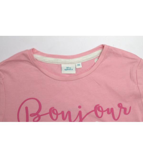 DiSNEY Girls Glitter Printed T Shirt