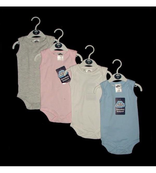 Baby Sleeveless Rompers Hanger Pack