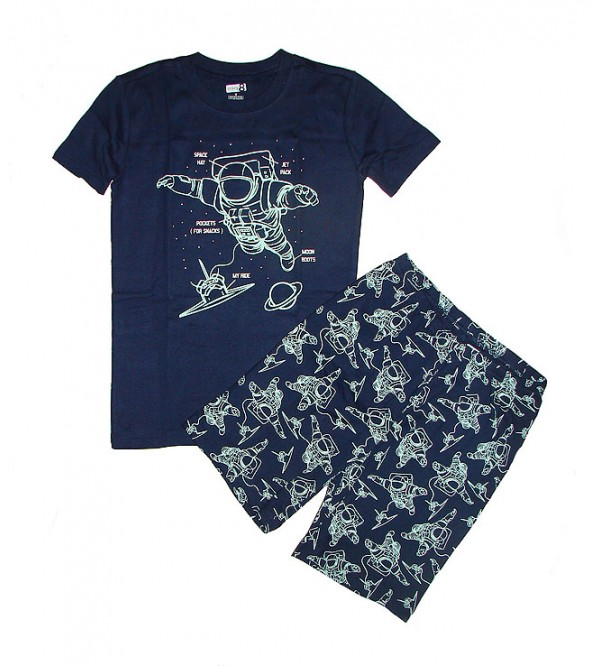 Boys Printed Shorty Pyjama Set (Packaged)