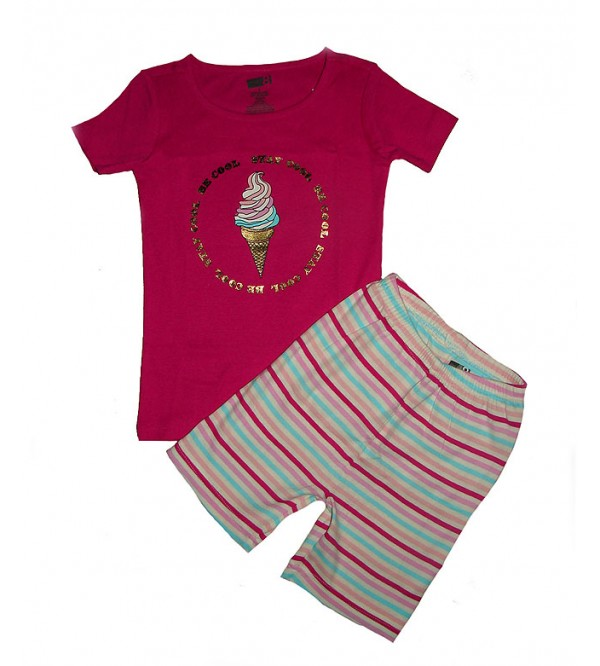 Girls Printed Shorty Pyjama Set (Packaged)