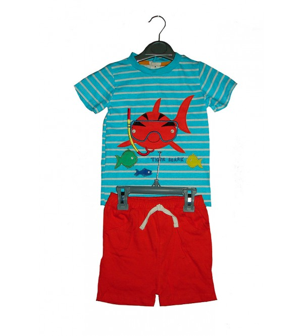 Baby Boys Printed Shorty Pyjama Set