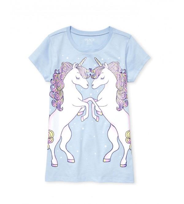 Place Girls Glitter Printed T Shirt