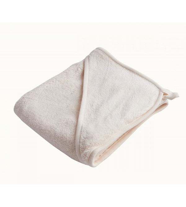 BABY ORGANIC COTTON HOODED BABY BATH TOWEL