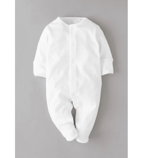 Baby 3 pc pack White Sleepsuits