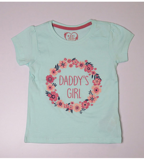 daddy's Girls Baby Girls Glitter Printed Top
