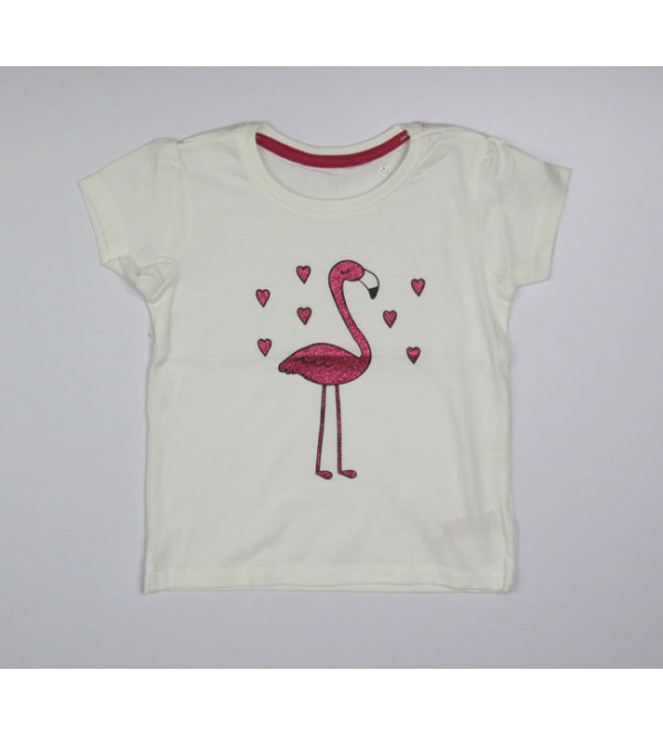 Baby Girls Glitter Printed Top