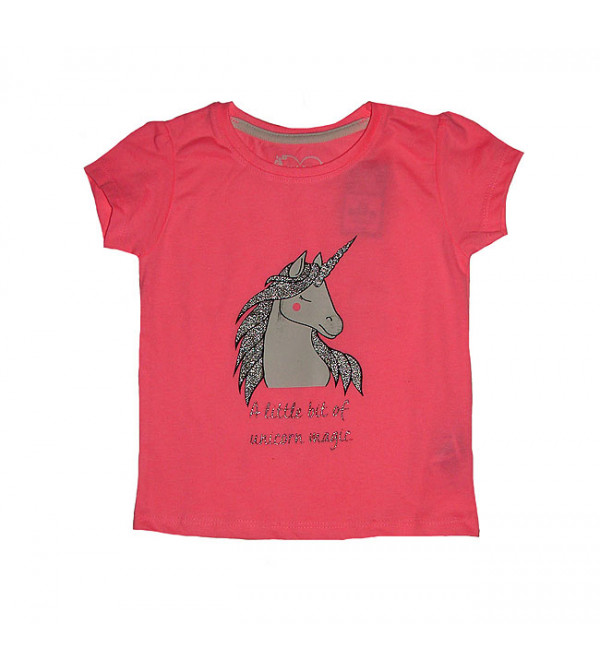 Unicorn Magic Baby Girls Glitter Printed Top