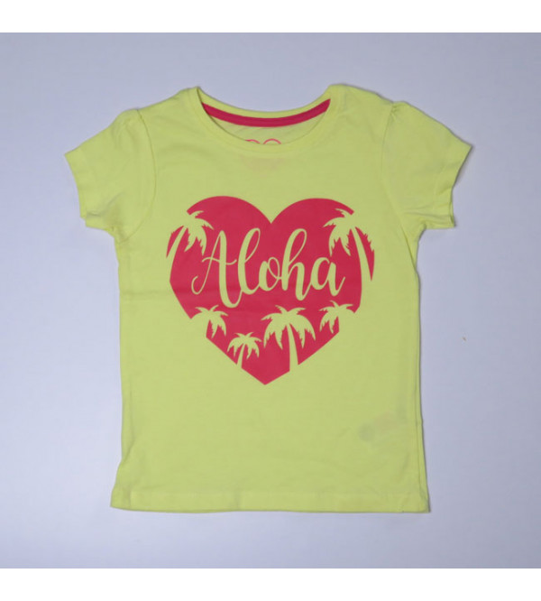 Aloha Baby Girls Glitter Printed Top