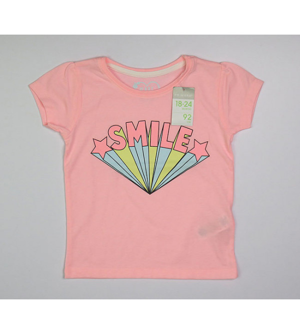 Smile Baby Girls Glitter Printed Top