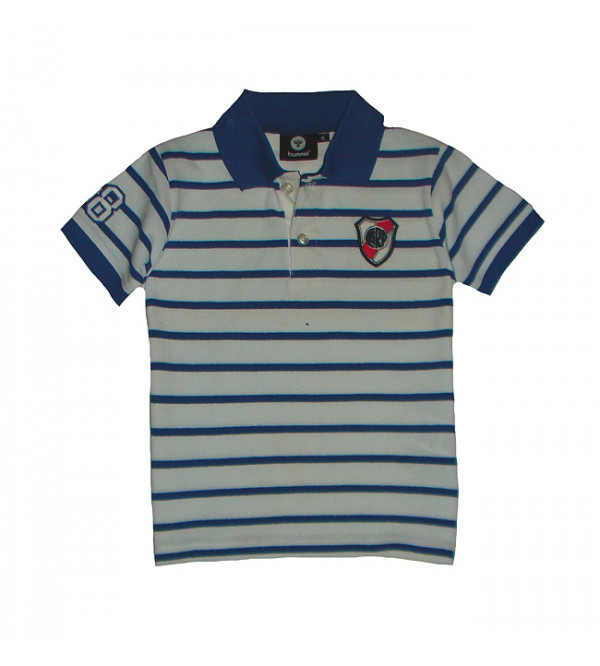 Boys Striped Polos With Applique