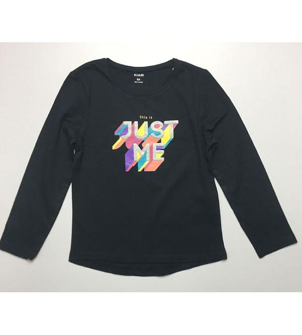 Just Me Girls Multihued Printed T-Shirt