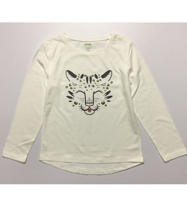 Girls Long Sleeve Printed T Shirt