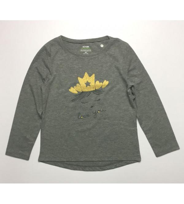 Girls Long Sleeve Printed T Shirt