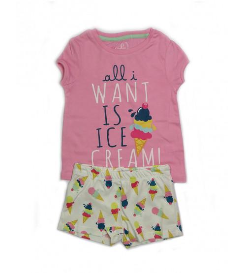 Ice-Cream Girls Shorty Sets