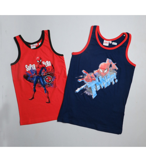 Character Printed Boys and Girls Muscle Tees