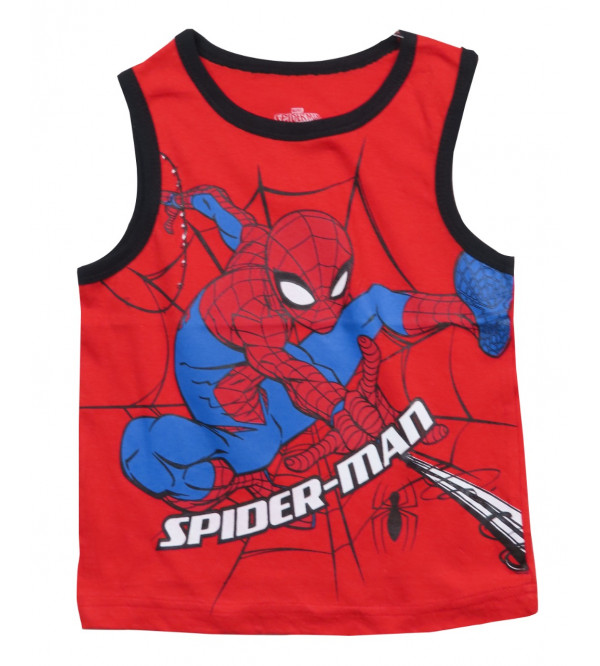 SPIDER MAN Printed Boys Muscle Tee