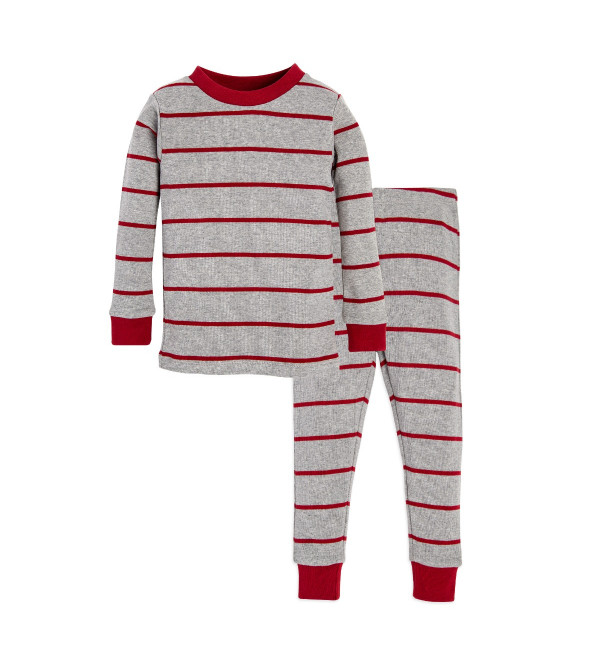 GINGERBREAD STRIPE ORGANIC BOYS PYJAMA