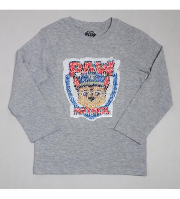 Paw Patrol Boys n Girls Flippy Sequin T Shirts