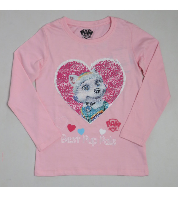 Paw Patrol Girls Flippy Sequin T Shirt