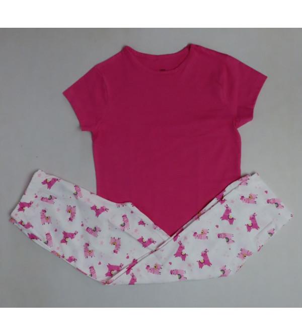 Older Girls Printed Pyjama Set Packaged