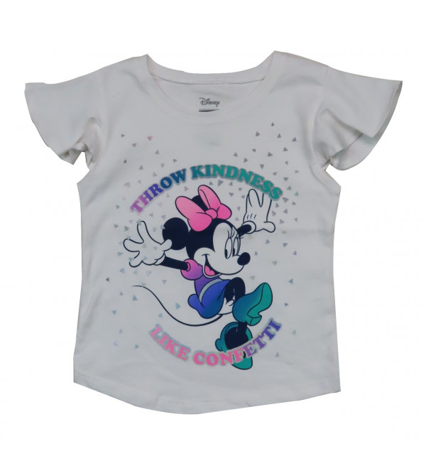 Mickey Mouse Girls Printed T Shirt