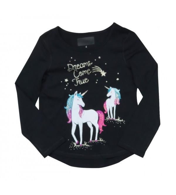 Unicorn Girls Long sleeve T Shirt