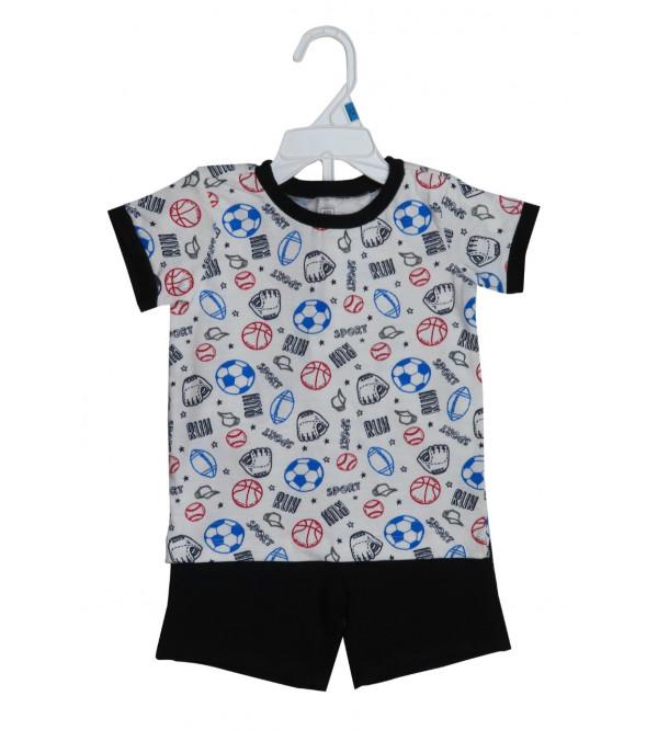 Boys 2 pcs Set (T Shirt + Shorts)