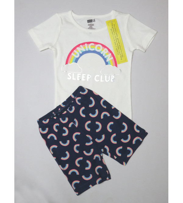 Rainbow Girls Shorty Pyjama Set