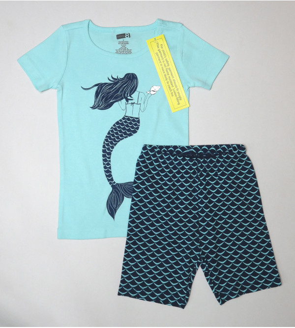 Mermaid Girls Shorty Pyjama Set