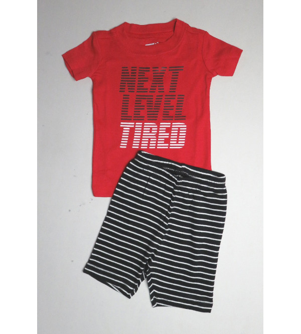 Boys Printed Shorty Pyjama Set