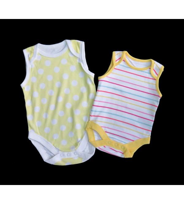 Baby Sleeveless Printed Rompers