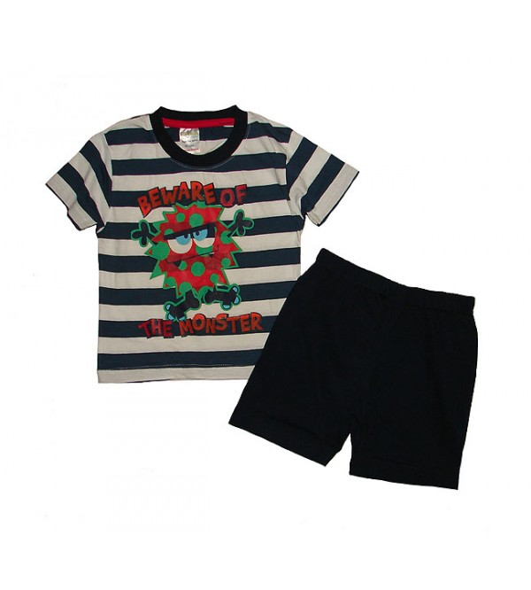 Boys Printed Shorty Sets