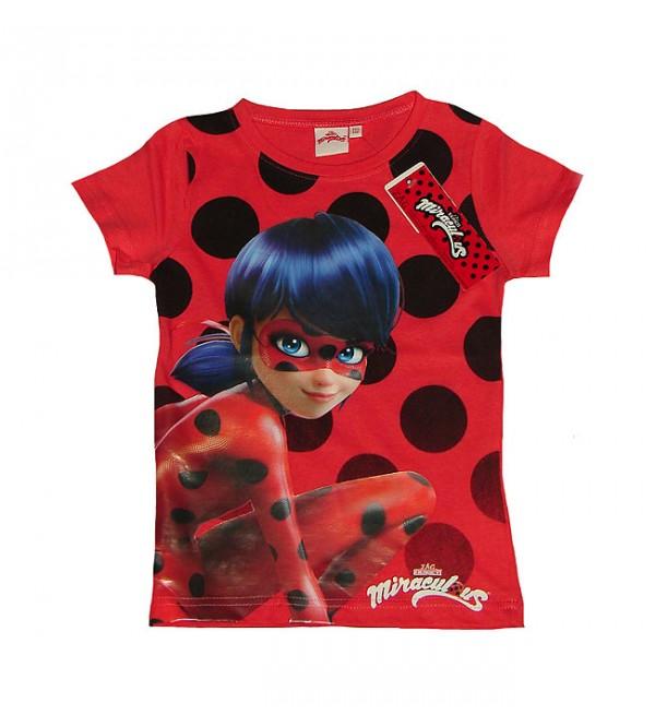 Miraculous Girls Short Sleeve Printed T Shirt