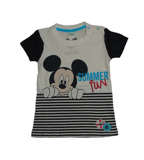 Minnie Mouse Baby Girls Short Sleeve Printed Tops