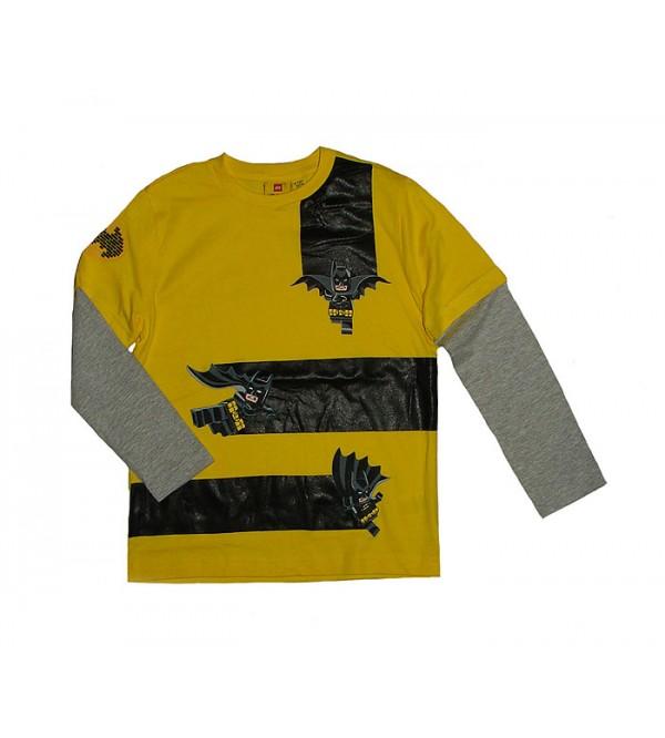 BATMAN Boys Double Sleeve Printed T Shirt