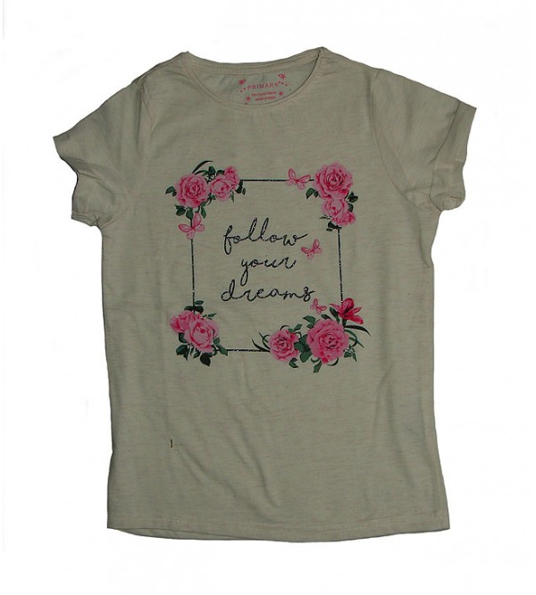 Older Girls Short Sleeve Printed T Shirt