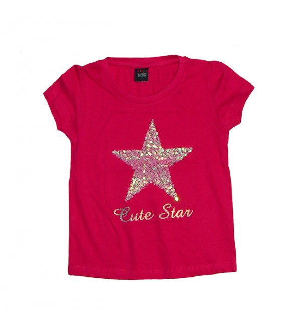 Baby Girls Short Sleeve Sequinned Top