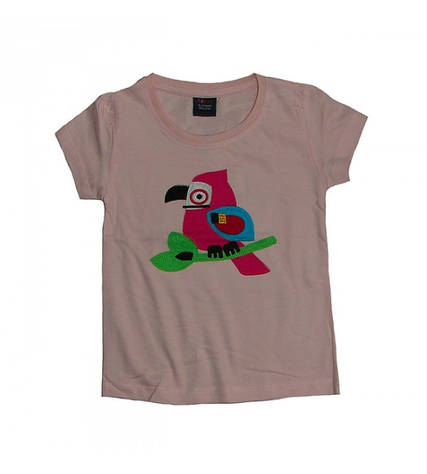 Baby Girls Short Sleeve Applique Top
