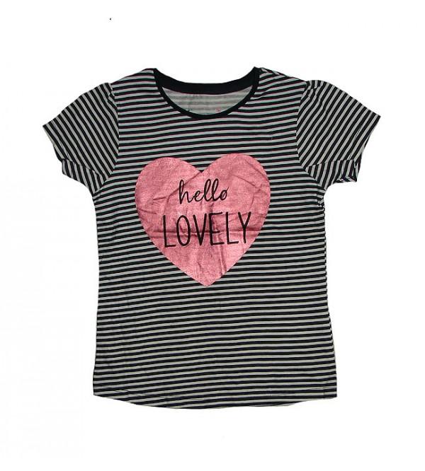 Girls Short Sleeve Glitter Printed T Shirts