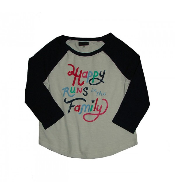 Girls Raglan Sleeve Printed T Shirt
