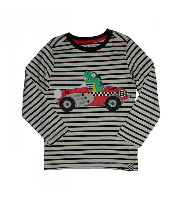 Boys Long Sleeve Striped n Printed T Shirt