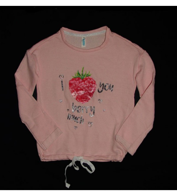 Girls French Terry Printed Winter T Shirt