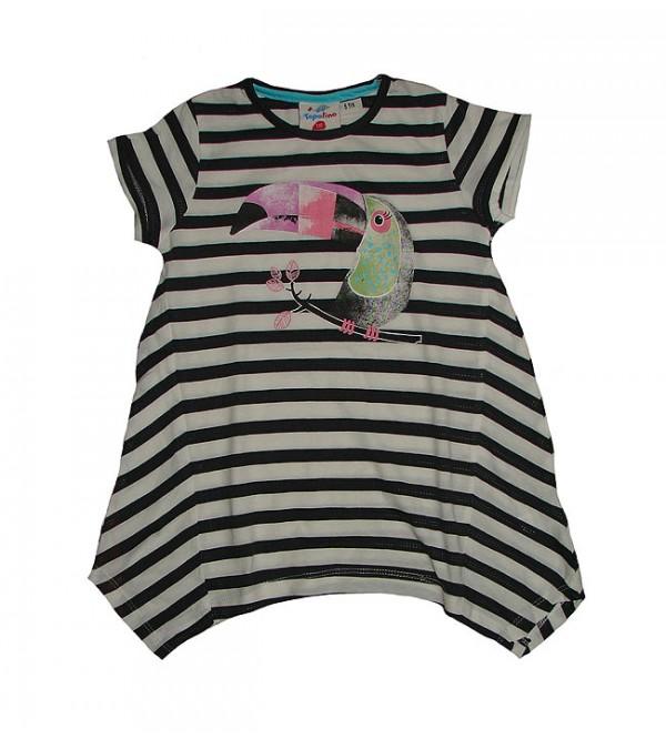 Girls Striped n Printed Fancy Top