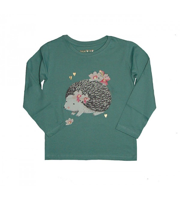 Baby Girls Long Sleeve Glitter Printed T Shirt